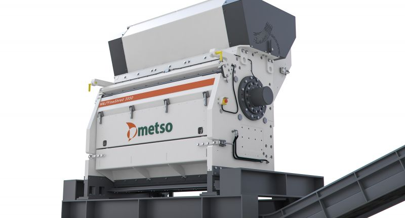 Metso, shredding, waste, recycling, RDF, waste to energy