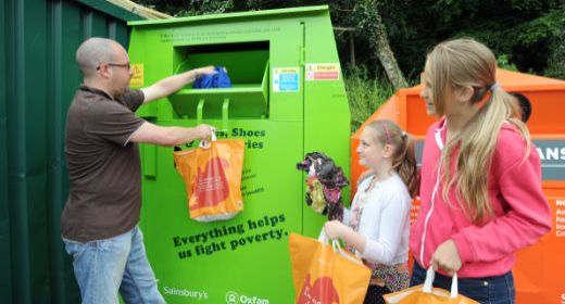 Sainsbury's, oxfam, clothes, recycling, landfill, reuse
