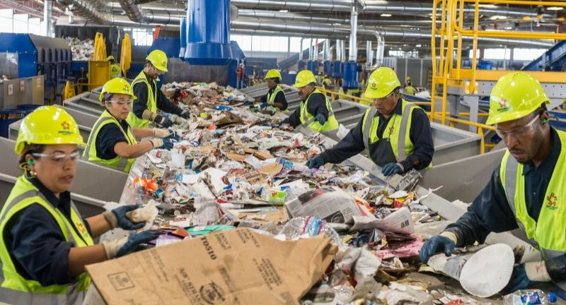 Republic services, las vegas, material recycling facility