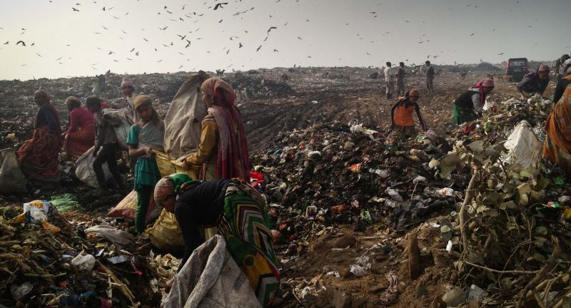 Ghazipur, landfill, collapse, waste to energy