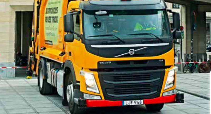 Volvo, refuse collection vehicle, driverless, automation, waste, recycling