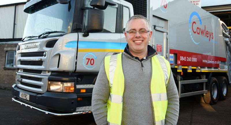 Cawleys, phil gudgeon, waste, recycling, refuse collection vehicle, safety
