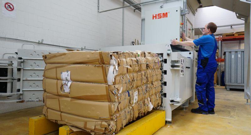 HSM, PAUL HARTMANN AG, waste, recycling, cardboard, plastics, packaging, baling