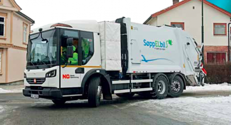 refuse collection vehicle, garbage truck, waste, electric vehicle, PVI, Sarpsborg