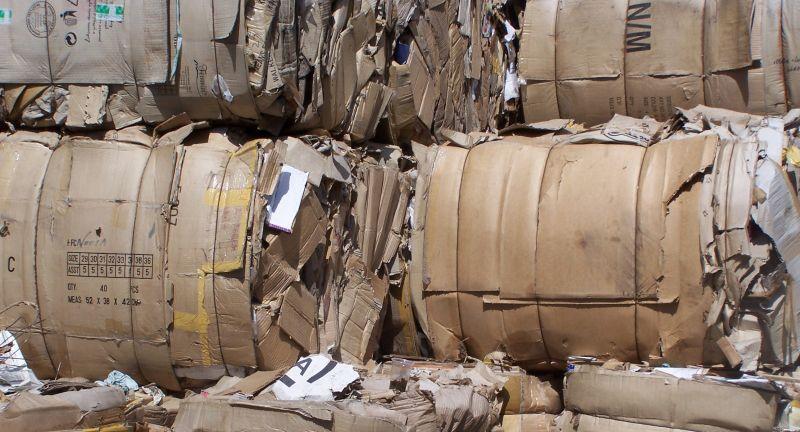 cardboard, bale, waste, recyclnig