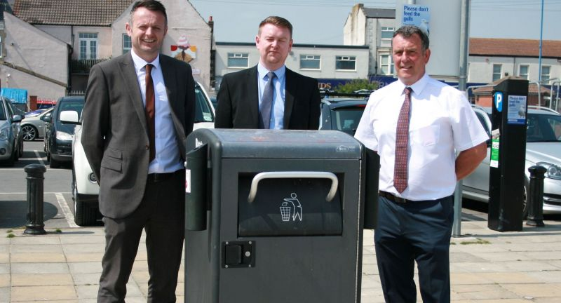 Egbert Taylor, bigbelly, waste, hartlepool, smart bin, recycling, seagulls