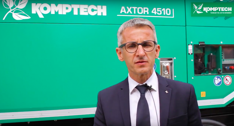KOMPTECH, Axtor 4510, waste, biowaste, biomass, shredding