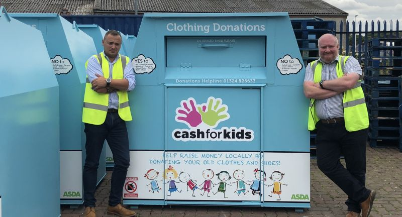 Egbert Taylor Group, textile, recycling, bins, Nathan's Wastesavers, cash for kids, netbin