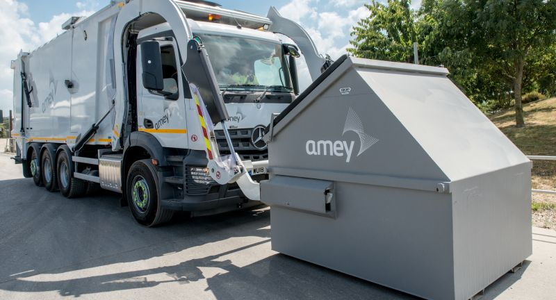 Amey, faun, mercedes, refusse collection vehicle, rcv, health and safety, cyclists