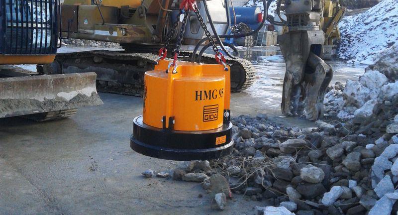 Inmalo, recycling, scrap, metal, GI-DA Hydraulic Magnet Attachments