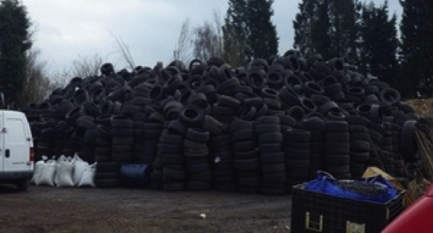Environment Agency, waste crime, tyres, peterborough