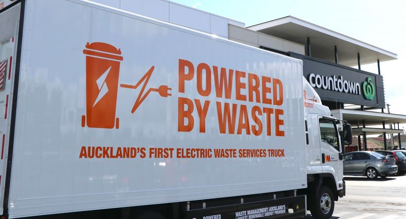 EMOSS, waste management nz, new zealand, recycling, electric vehicle, rcv