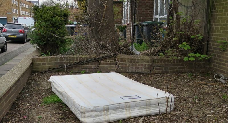 the furniture recycling group, waste, mattress, dumping, illegal, crime