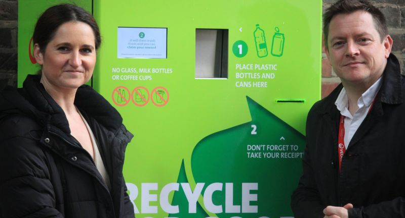 Veolia, LEOn, reverse vending, recycling, london, kings cross