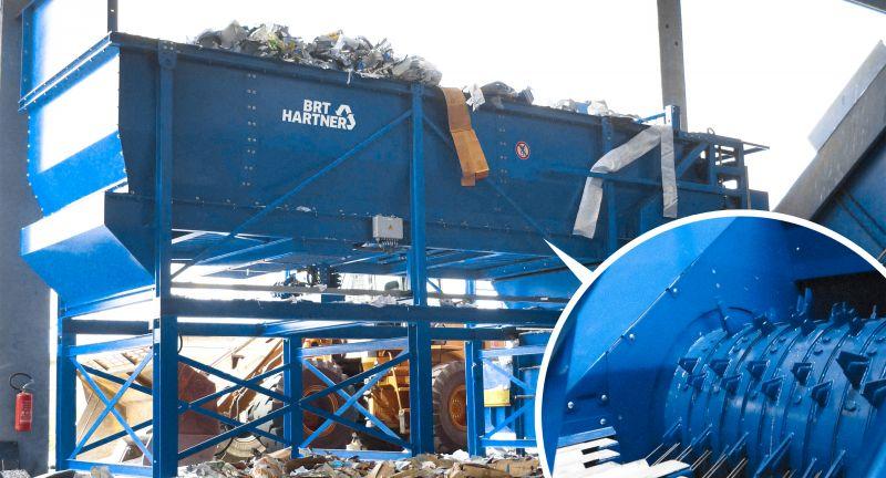 Eggersmann, BRT, HARTNER, BO, bag, opener, waste, recycling