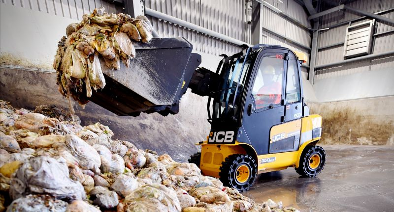 jcb, waste, recycling, Guernsey, food, waste, anaerobic, digestion