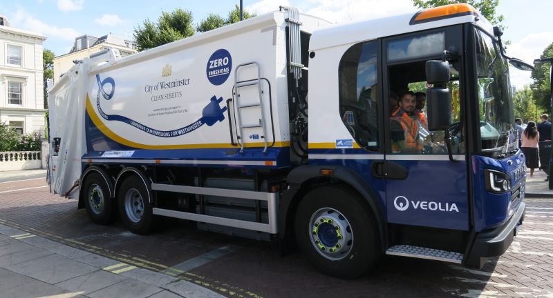 veolia, wesminster, refuse, collection, truck, recycling, waste