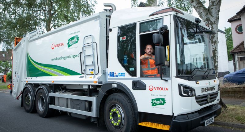 veolia, waste, recycling, bromley, rcv, weee, battery