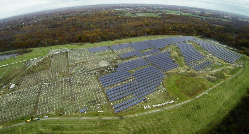 PSE&G, landfill, waste management, solar