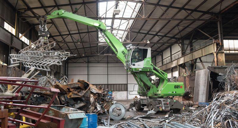 SENNEBOGEN, waste, recycling, materials, handling, A., Menshen