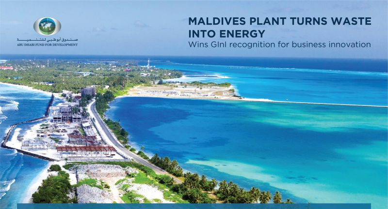 Abu, Dhabi, Fund, for, Development, waste, to, energy, Maldives