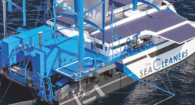 The, SeaCleaners, Manta, marine, debris