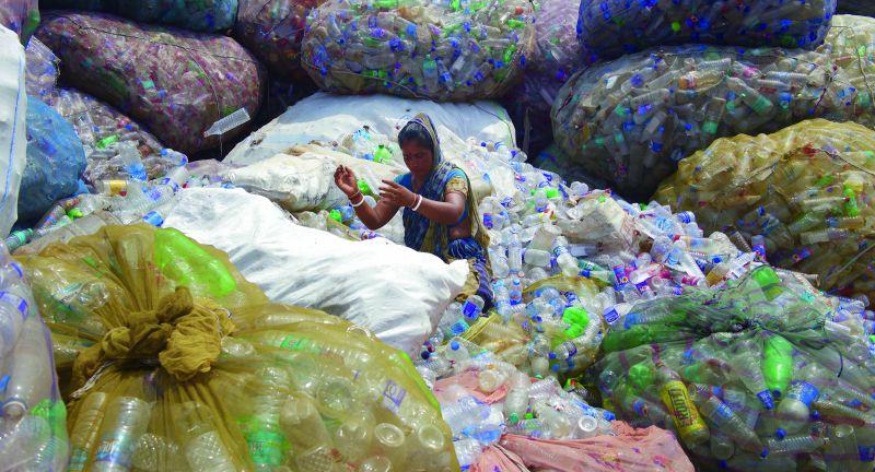 171119, 2019, asien, m¸ll abfall, plastikabfall, plastikflasschen, plastik kunststoff, verwertung, wertstoff, wiederverwertung