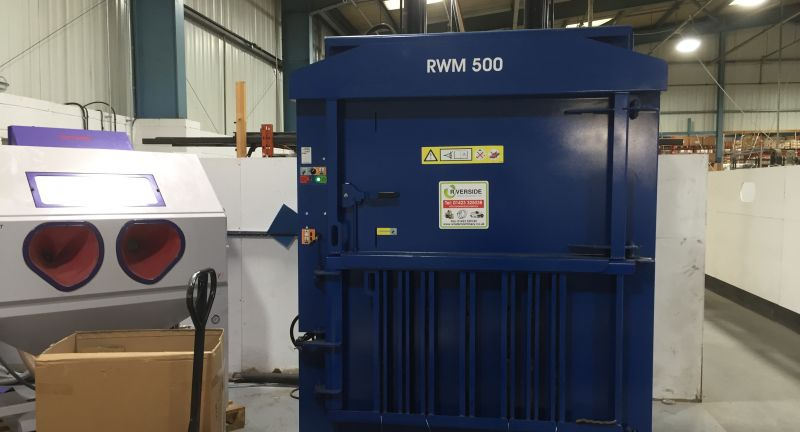 riverside waste machinery, mellor electric, recycling, baler, cardboard