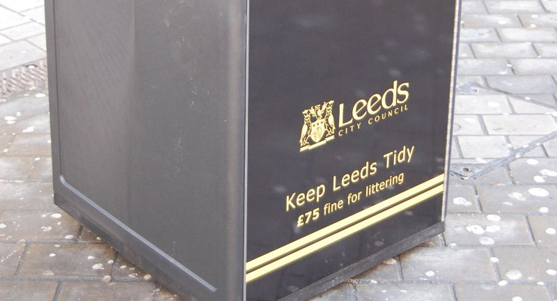 Bigbelly, bins, Leeds
