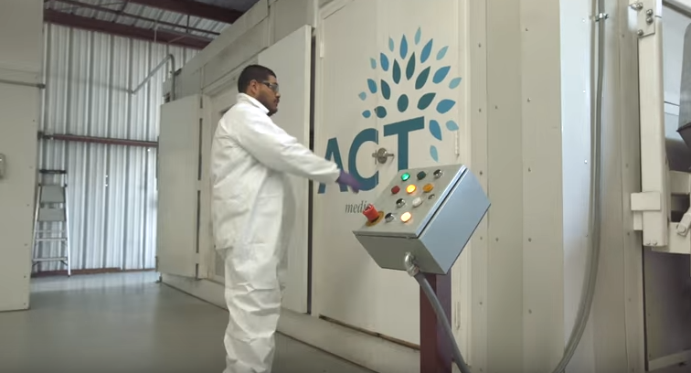 ACT Environmental Services, microwave disinfection, medical waste, waste to energy, landfill, california