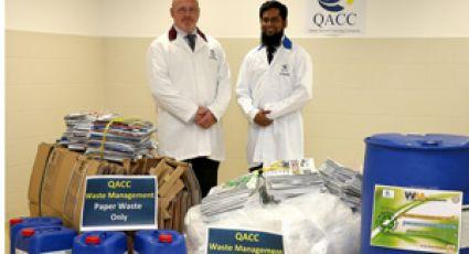 qatar airways, waste, recycling